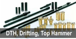 dth, drifting and top hammer drilling parts - drill parts